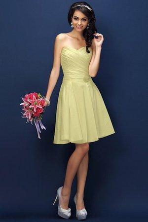 Prinzessin Taft Mini Brautjungfernkleid mit Drapierung ohne Ärmeln kwtb3wc