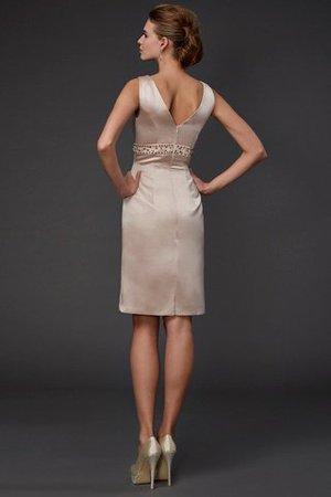 Quadrat Ausschnitt Etui Reißverschluss Brautmutterkleid mit Pailletten mit Perlen o1WZuDE