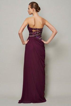 Trägerlos Perlenbesetztes Normale Taille Anständiges Abendkleid aus Chiffon pgSxltTQSK
