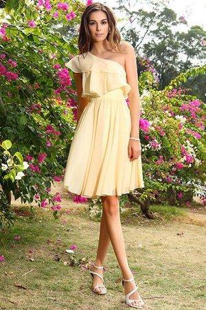 Prinzessin Chiffon Ärmelloses A-Line Mini Brautjungfernkleid iigjM