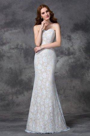 Meerjungfrau Satin Sittsames Bodenlanges Brautjungfernkleid mit Applikation 0nF1F