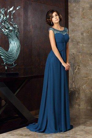 Ärmelloses Schaufel-Ausschnitt Empire Taille Prinzessin Brautmutterkleid mit Perlen zggam84mt