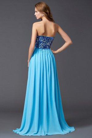 A Linie Normale Taille Prinzessin Herz-Ausschnitt Abendkleid mit Pailletten qJ33oWb