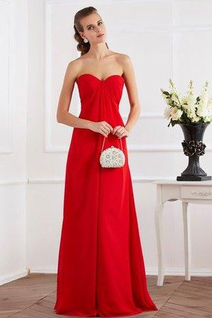 Plissiertes Drapiertes Bodenlanges Abendkleid aus Chiffon mit Empire Taille mfX5oaTeC