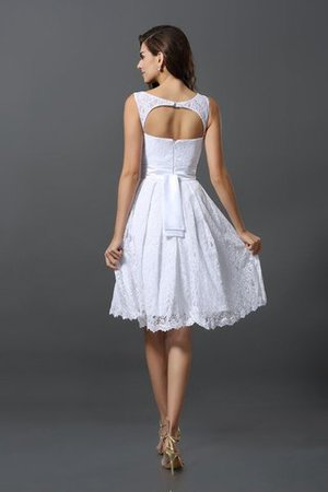 Empire Taille Schaufel-Ausschnitt A-Linie Kurzes Brautjungfernkleid mit Bordüre 0aiyZK