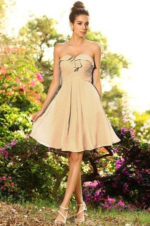 Ärmelloses Prinzessin a linie Plissiertes Brautjungfernkleid mit Herz-Ausschnitt fsY1YE
