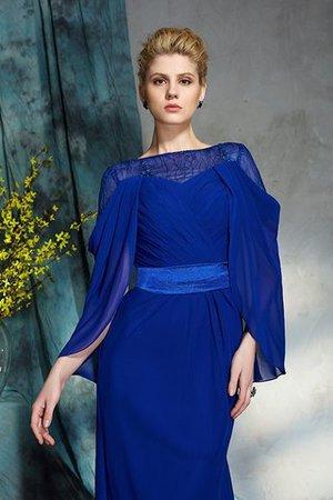 Lange Ärmeln Etui Natürliche Taile Abendkleid aus Chiffon mit Reißverschluss XdAYJMlxpY
