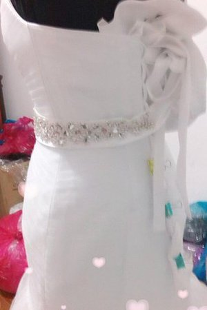 Ärmelloses Herz-Ausschnitt Normale Taille Meerjungfrau Stil Bodenlanges Brautkleid x6E3pN