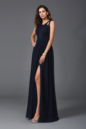 A Linie Prinzessin Breiter Träger Anständiges Abendkleid aus Chiffon ibaKYAC