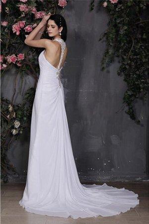Enges Empire Taille Nackenband Anständiges Brautkleid mit Rüschen xuWcj