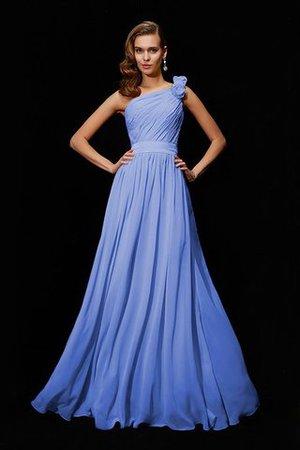 Empire Taille Chiffon Prinzessin Bodenlanges Brautjungfernkleid mit Blume 1k2AbT