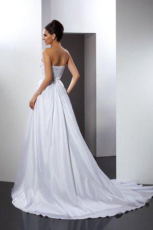 Prinzessin A-Line Anständiges Brautkleid aus Satin mit Rüschen v2OGYy3Wnw