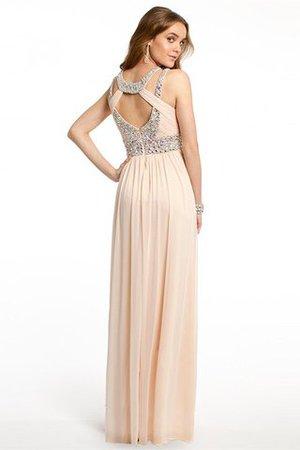 Prinzessin Ärmellos Normale Taille Bodenlanges Abendkleid mit Reißverschluss j6b6r