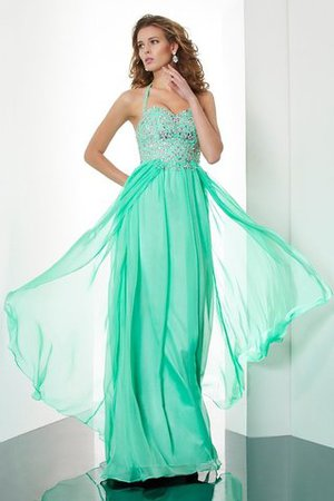 Prinzessin Empire Taille Nackenband Reißverschluss Abendkleid mit Sweep Zug jIXB2hkdJ
