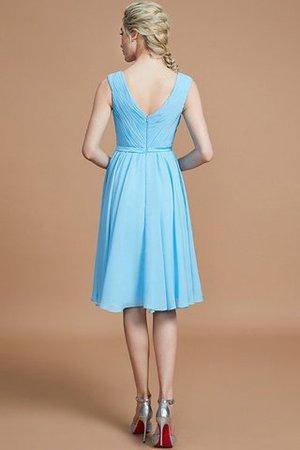 A linie Normale Taille Mini Brautjungfernkleid aus Chiffon mit V-Ausschnitt Pf0PF