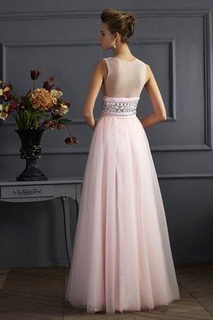 V-Ausschnitt Perlenbesetztes Ärmelloses Bodenlanges Anständiges Abendkleid mdYK8cU90K