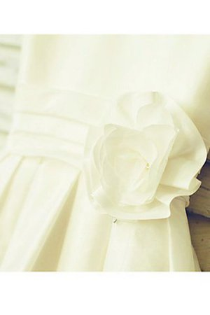 Ärmelloses Chiffon Schaufel-Ausschnitt Wadenlanges Blumenmädchenkleid mit Blume I4HKPxODz