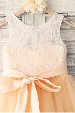 Normale Taille Prinzessin a linie Blumenmädchenkleid mit Schleife mit Gürtel SC3W6