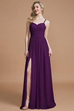 Prinzessin A-Linie Normale Taille Bodenlanges Brautjungfernkleid aus Chiffon LgCGRC