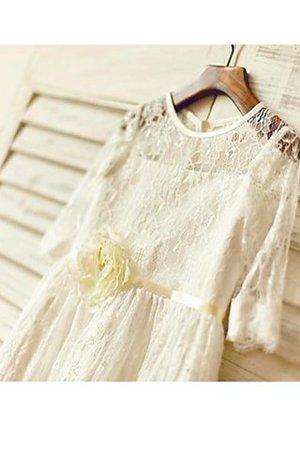Reißverschluss A-Line Normale Taille Prinzessin Blumenmädchenkleid mit Bordüre k65dJGYoWJ