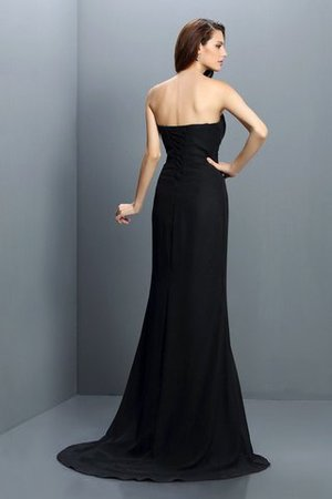 Drapiertes Empire Taille Meerjungfrau Stil Chiffon Brautjungfernkleid ohne Ärmeln 43NHNkQx