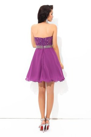 A Linie Chiffon Perlenbesetztes Normale Taille Mini Cocktailkleid K3UIavo2H