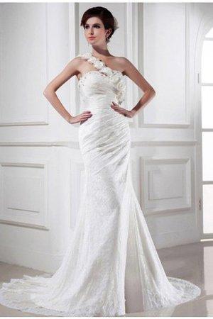 Perlenbesetztes Meerjungfrau Stil Empire Taille Ärmellos Brautkleid mit Blume mMPDB