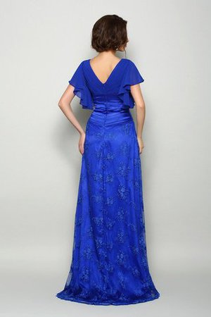 Chiffon Sweep train V-Ausschnitt a linie Brautmutterkleid mit Applikation bfWGby
