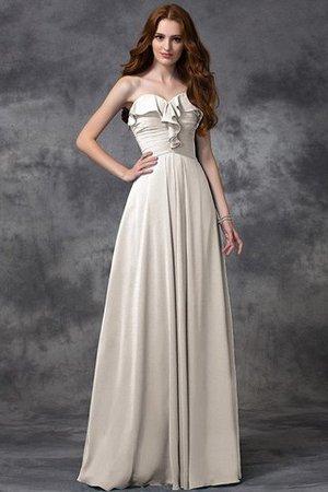 Prinzessin Herz-Ausschnitt Ärmelloses A-Linie Brautjungfernkleid aus Chiffon Cux5YXV4a