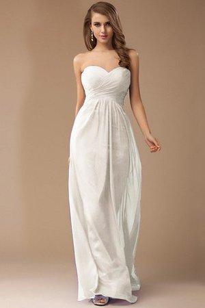 Ärmellos Herz-Ausschnitt Empire Taille Anständiges Brautjungfernkleid mit Rüschen DkhaSdAD