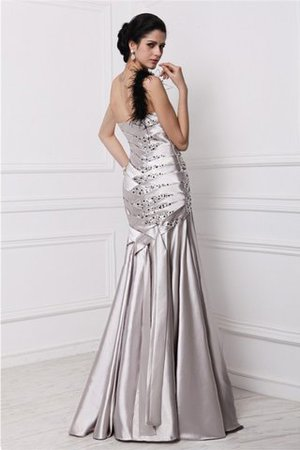 Prinzessin A-Linie Elastischer gewebter Satin Perlenbesetztes Ärmelloses Abendkleid te45R5