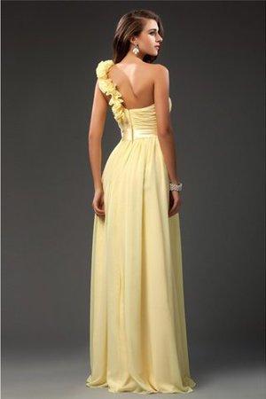 Ein Schulter Enges Empire Taille Chiffon Abendkleid mit Rüschen GD4ps