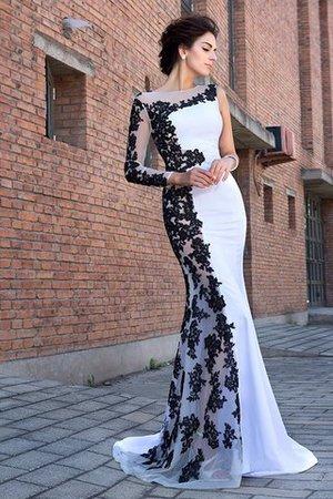 Reißverschluss Meerjungfrau Stil Sweep Train Chiffon Anständiges Abendkleid NEQ5Fvm