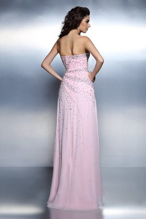 Prinzessin Perlenbesetztes Reißverschluss Chiffon Normale Taille Abendkleid oE3kJ