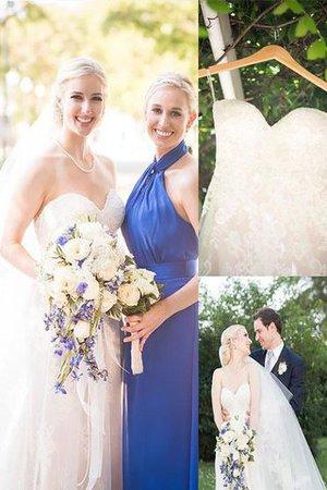 Prinzessin A-Linie Herz-Ausschnitt Brautkleid ohne Ärmeln mit Sweep zug ANpsgbfv