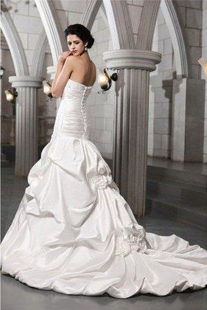 A linie Prinzessin Ärmelloses Brautkleid mit Empire Taille mit Rücken Schnürung BTHzt6