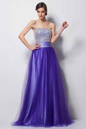 Herz-Ausschnitt Prinzessin Bodenlanges Anständiges Abendkleid ohne Ärmeln vAKgBna