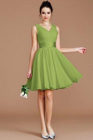A linie Chiffon Mini Brautjungfernkleid mit Schleife mit Gürtel peMEzt5s