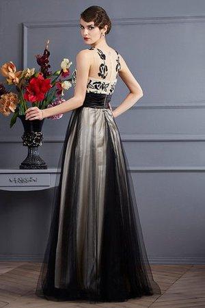 Prinzessin Schaufel-Ausschnitt Reißverschluss Ärmelloses Bodenlanges Abendkleid GCvKwjCmB