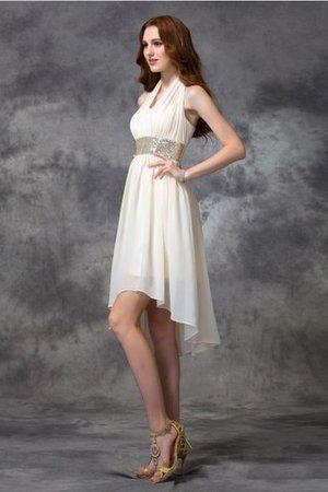 A-Linie Neckholder Prinzessin Chiffon Rocklänge-asymmetrisches Cocktailkleid r9HyYfA