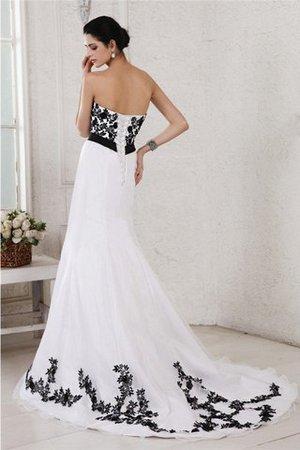 A-Linie Ärmelloses Sittsames Brautkleid mit Gürtel mit Rücken Schnürung y8UVLFRIy1
