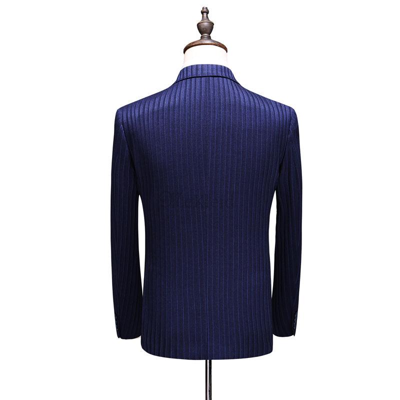 Anzüge Große Größe Mann Blazer Hosen Koreanische Striped