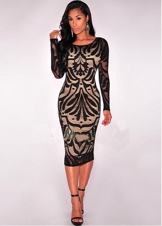 Kleid mit langen armeln aus spitze