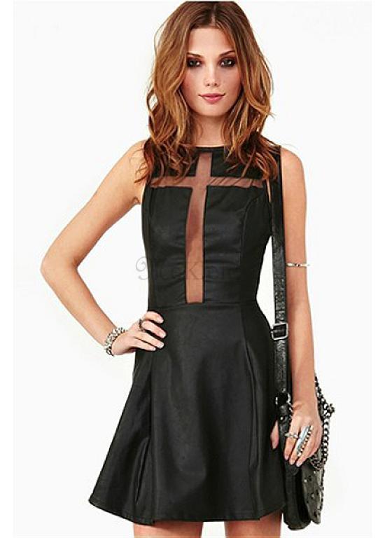 am besten wählen am besten geliebt Online-Shop Mini Exquisit Polyester Party Kleid Nacht Stil Schwarz Sexy ...
